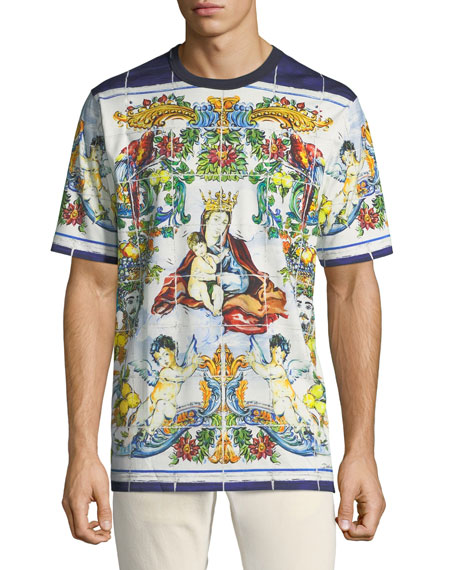 Men's Mailoica Madonna T Shirt by Dolce & Gabbana