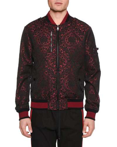 Men's Brocade Bomber Jacket