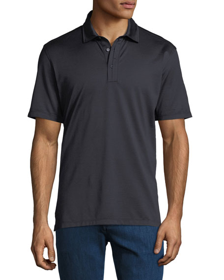 Men's Solid 3-Button Polo Shirt