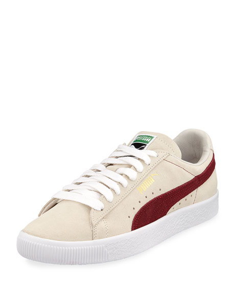 Man/Woman Puma Men's Classic Suede Low-Top Low-Top Low-Top Sneakers, White  Shock Absorber 38c7b1