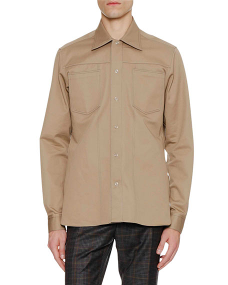 Men's Patch-Pocket Shirt Jacket