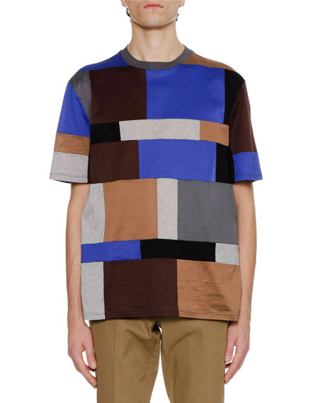 Lanvin Men's Mercerized Cotton Multi-Patch T-Shirt