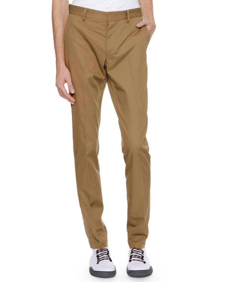 Lanvin Men's Slim Cotton Pants