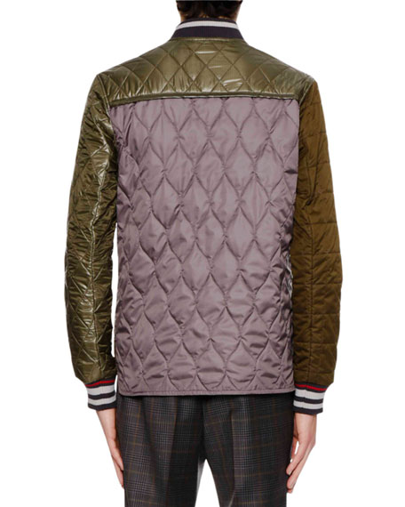 Teddy Quilted Matelassé Jacket