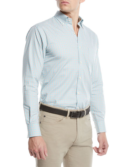 Peter Millar Men's Crown Ease Marketplace Check Sport