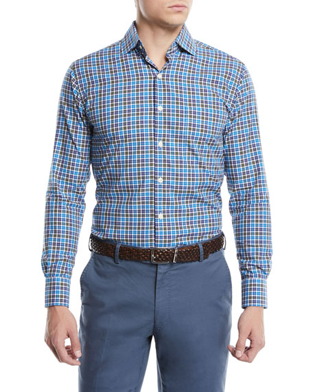 Men's Crown Finish Salthill Check Cotton Sport Shirt