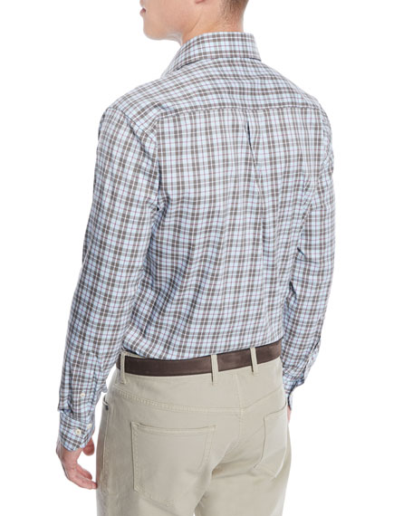 Men's Crown Comfort Glen Plaid Sport Shirt