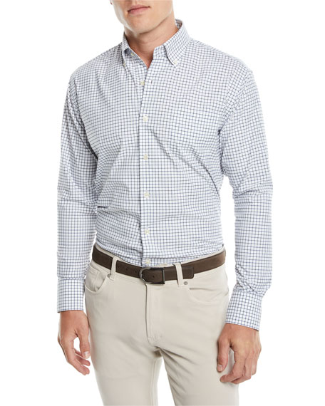 Men's Captain Performance Tattersall Sport Shirt