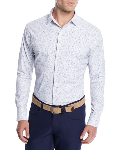 Men's Foster Floral Performance Sport Shirt