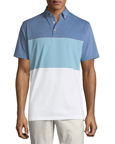 Men's Craig Lambeth Stripe Performance Polo Shirt