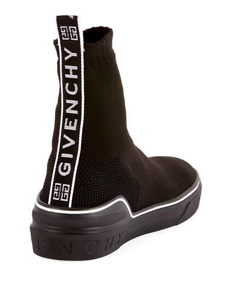 Men's George V High-Top Sock Sneaker with Logo