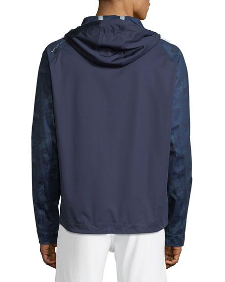 Men's Turin Zip-Front Hooded Rain Jacket
