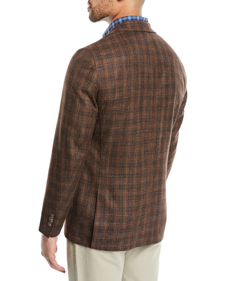 Men's Crown Soft Autumn Plaid Sport Jacket