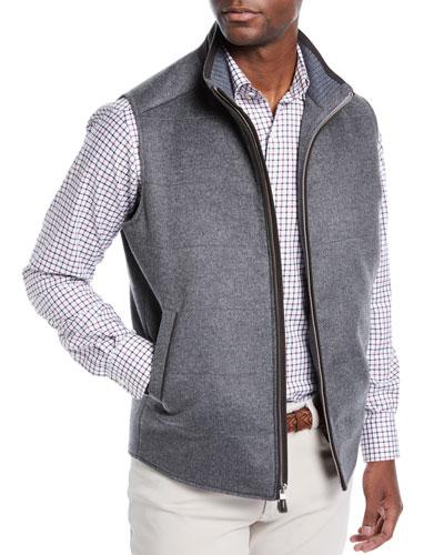 Darien Crown Fleece Wool/Cashmere Quilted Vest