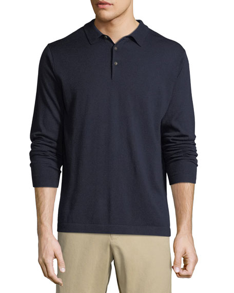 Men's Crown Soft Long-Sleeve Polo Shirt