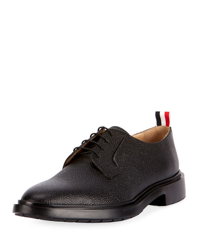 Men's Leather Blucher Dress Shoes with Winterized Rubber Sole