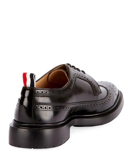 Men's Classic Long Wing-Tip Brogue Oxford Shoes