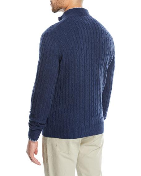 Men's Crown Cable-Knit Quarter-Zip Sweater
