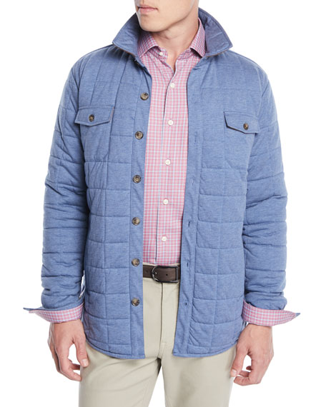 Men's Crown Soft Quilted Button-Front Barn Jacket