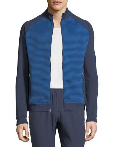 Men's Hybrid Front-Zip Jacket