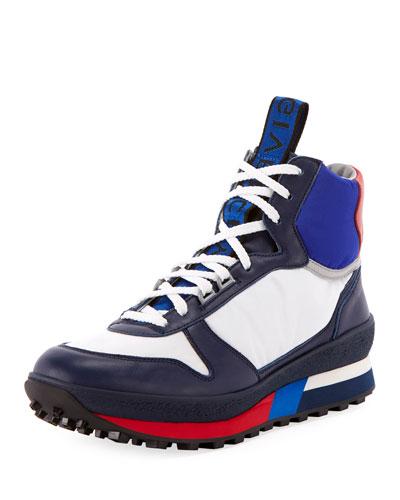 Men's TR3 Mid-Top Colorblock Leather Runner Sneaker