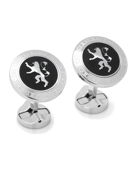 Game of Thrones Lannister Filigree Stainless Steel Cufflinks