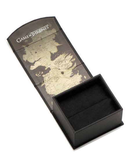 Game of Thrones Targaryen Filigree Wood-Inlay Tie Clip