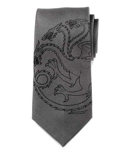 Game of Thrones Targaryen Large-Sigil Silk Tie