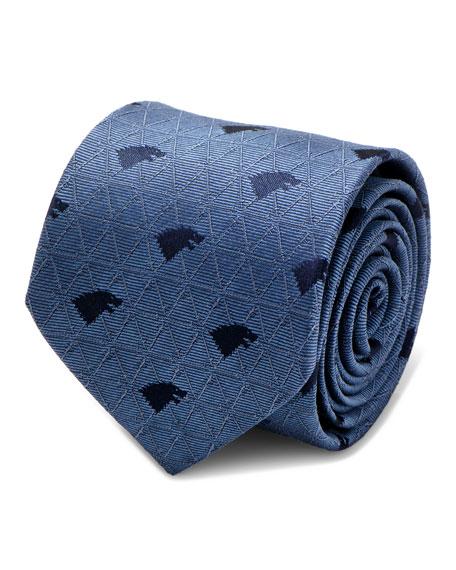 Game of Thrones Stark Geo Sigil Silk Tie