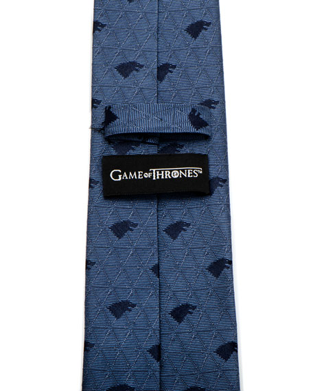 Game of Thrones Stark Geo Sigil Silk Tie