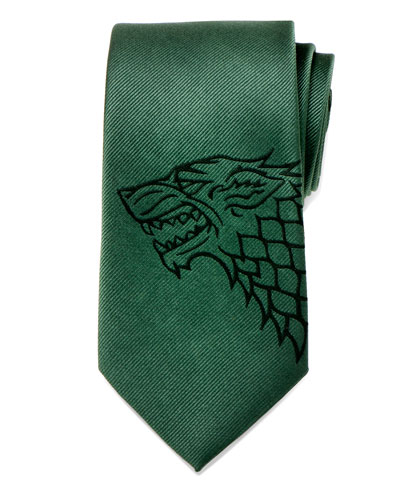 Game of Thrones Stark Large-Sigil Silk Tie