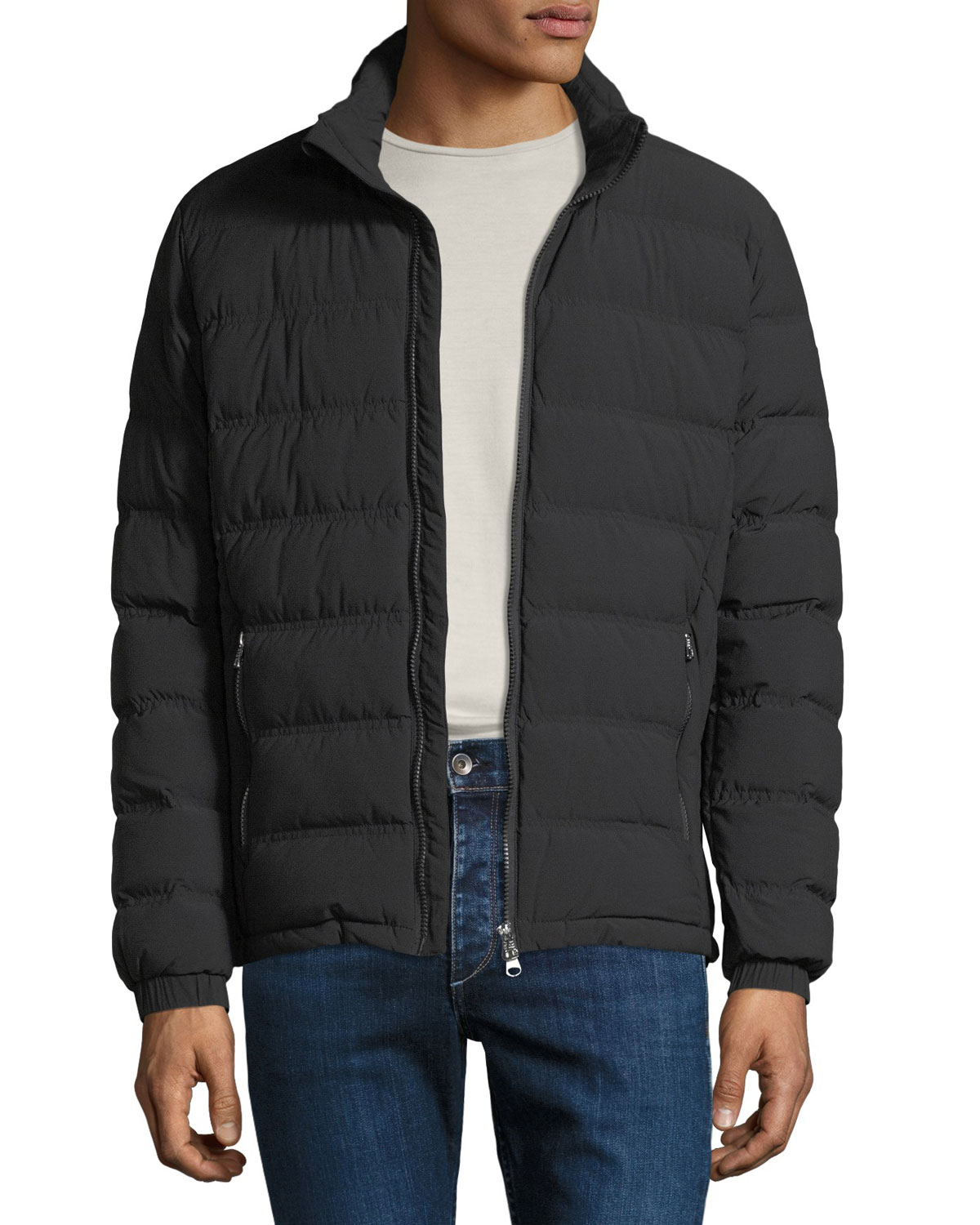 Emporio Armani Mens Lightweight Quilted Down Jacket Neiman Marcus