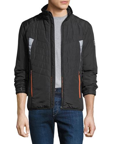 Men's EA7 Wind-Resistant Padded Jacket