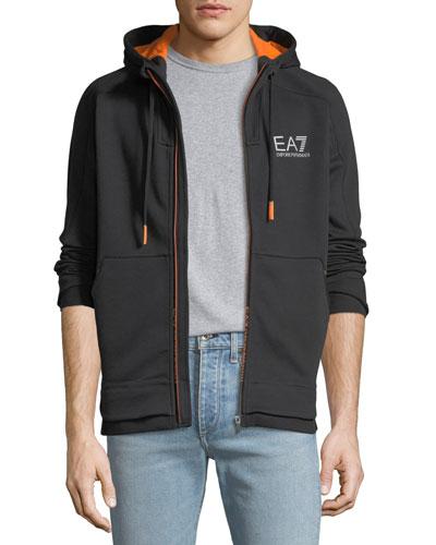 Men's EA7 Ventus Zip-Front Hoodie