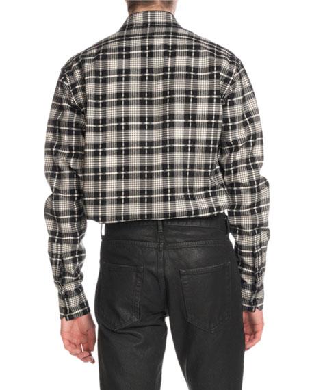Men's Cotton/Wool Plaid Flannel Shirt