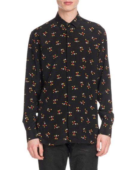 Men's Mickey Mouse Silk Sport Shirt