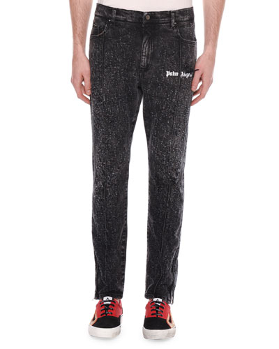 Men's Ripped Denim Track Pants