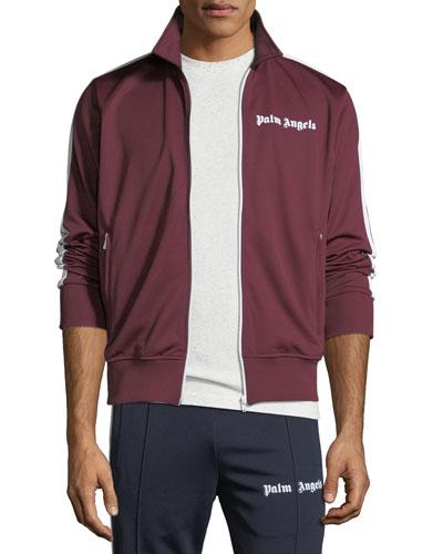 Men's Spread-Collar Track Jacket
