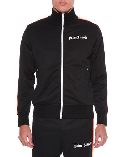 Men's Rainbow Zip-Front Track Jacket