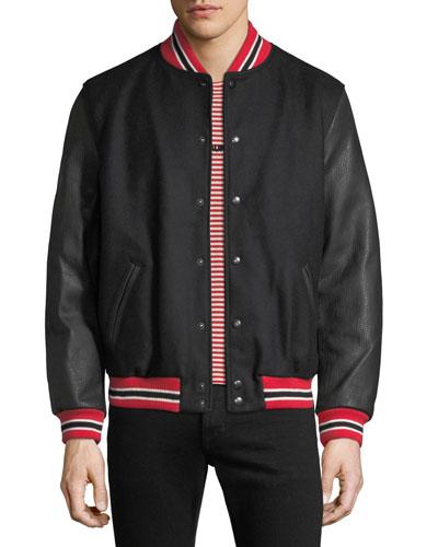Men's Snap-Front Authentic Varsity Jacket