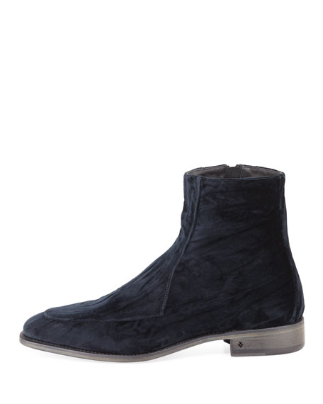 Men's Amsterdam Apron-Toe Velvet Boot