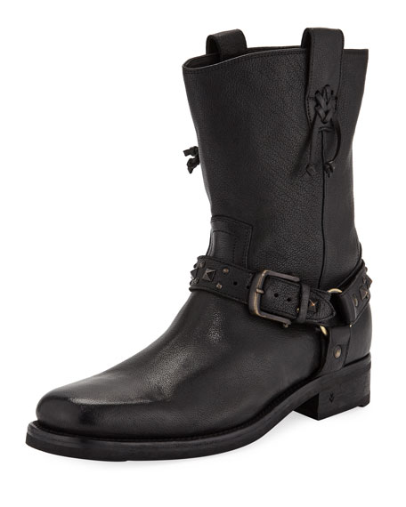 Men's Berlin Leather Harness Boots