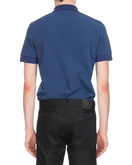 Men's Two-Tone Cotton Polo Shirt