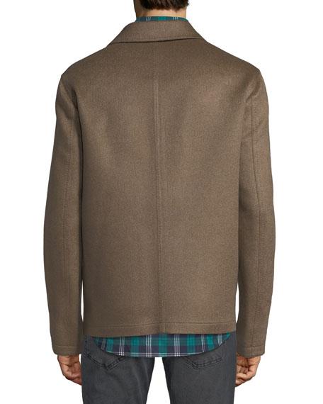 Men's Cashmere Button-Front Blouson Jacket