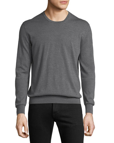 Men's Wool Crewneck Sweater