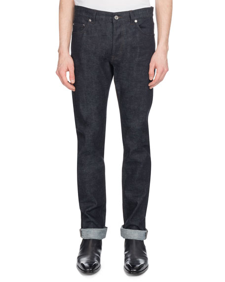 Men's Straight-Leg Cotton Jeans, Indigo