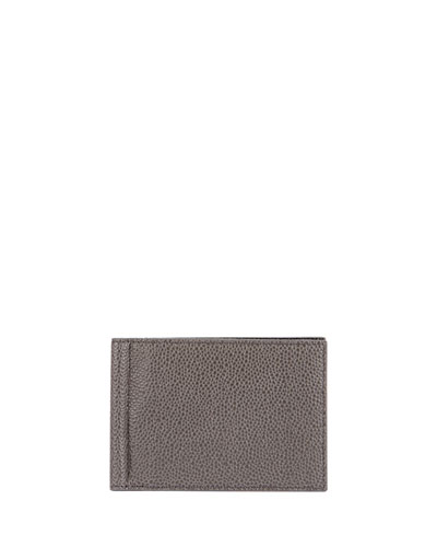 Men's Pebbled Leather Wallet w/ Money Clip