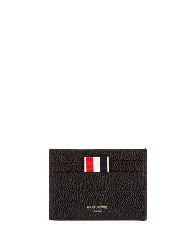 Men's Pebbled Leather Card Holder