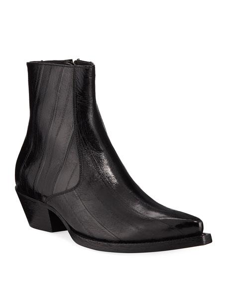 Men'S Lukas Eel-Leather Boots in Black