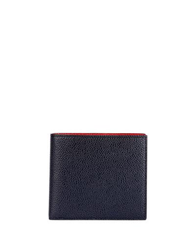 Men's Colorblock Leather Bi-Fold Wallet